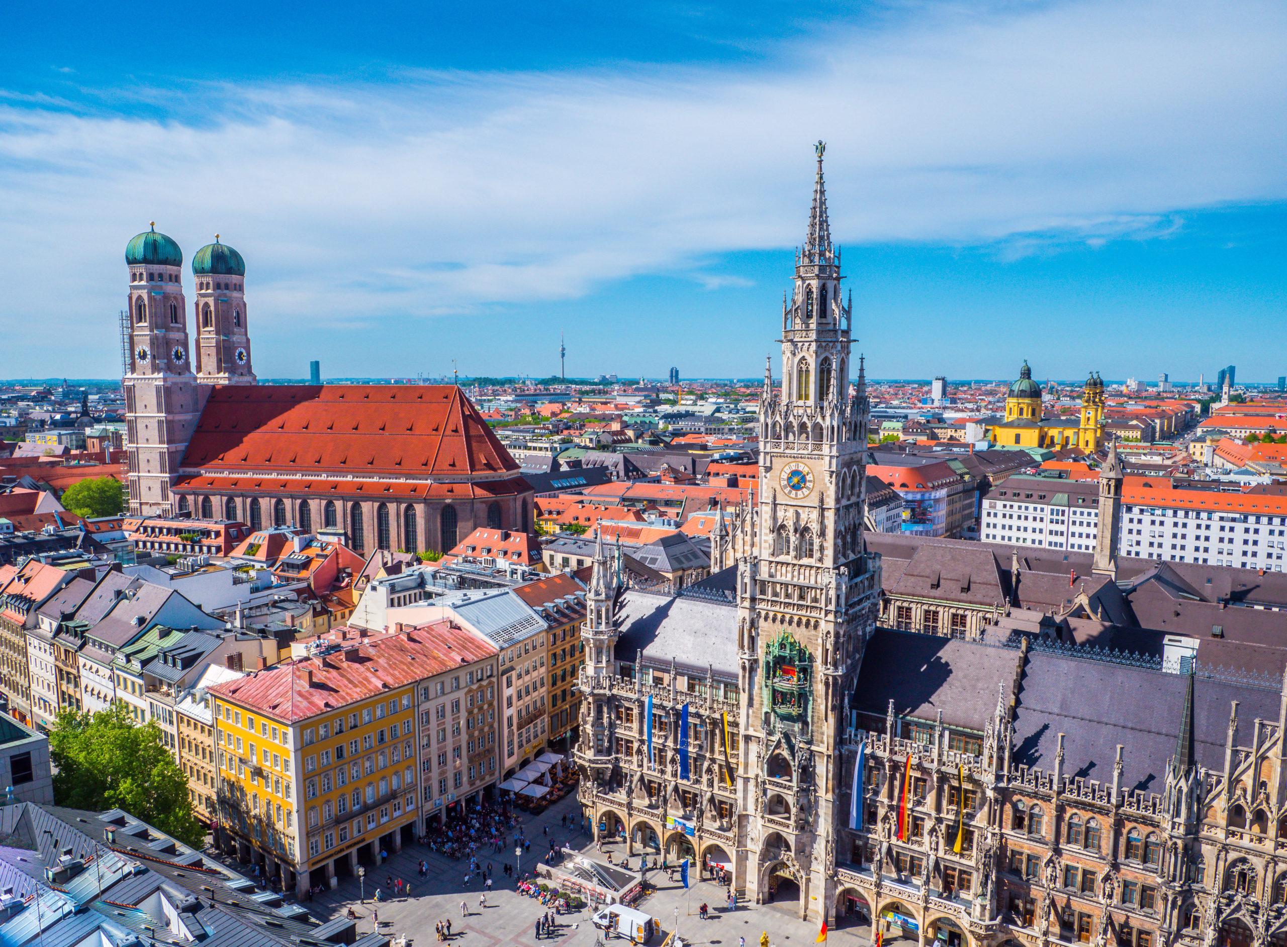 Toller Panoramablick von der Innenstadt in München