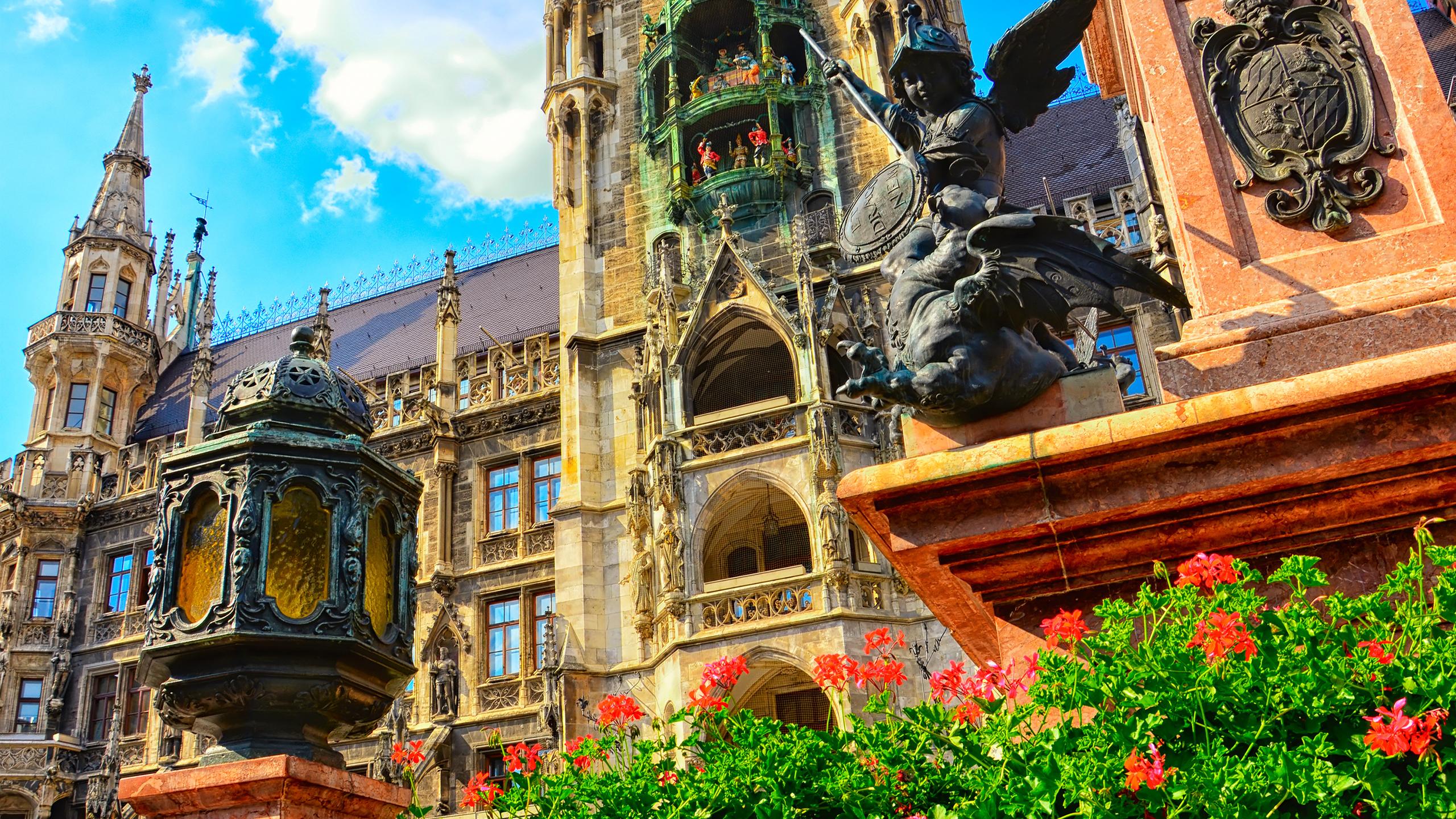 Schönes Bild aus dem Marienplatz in München